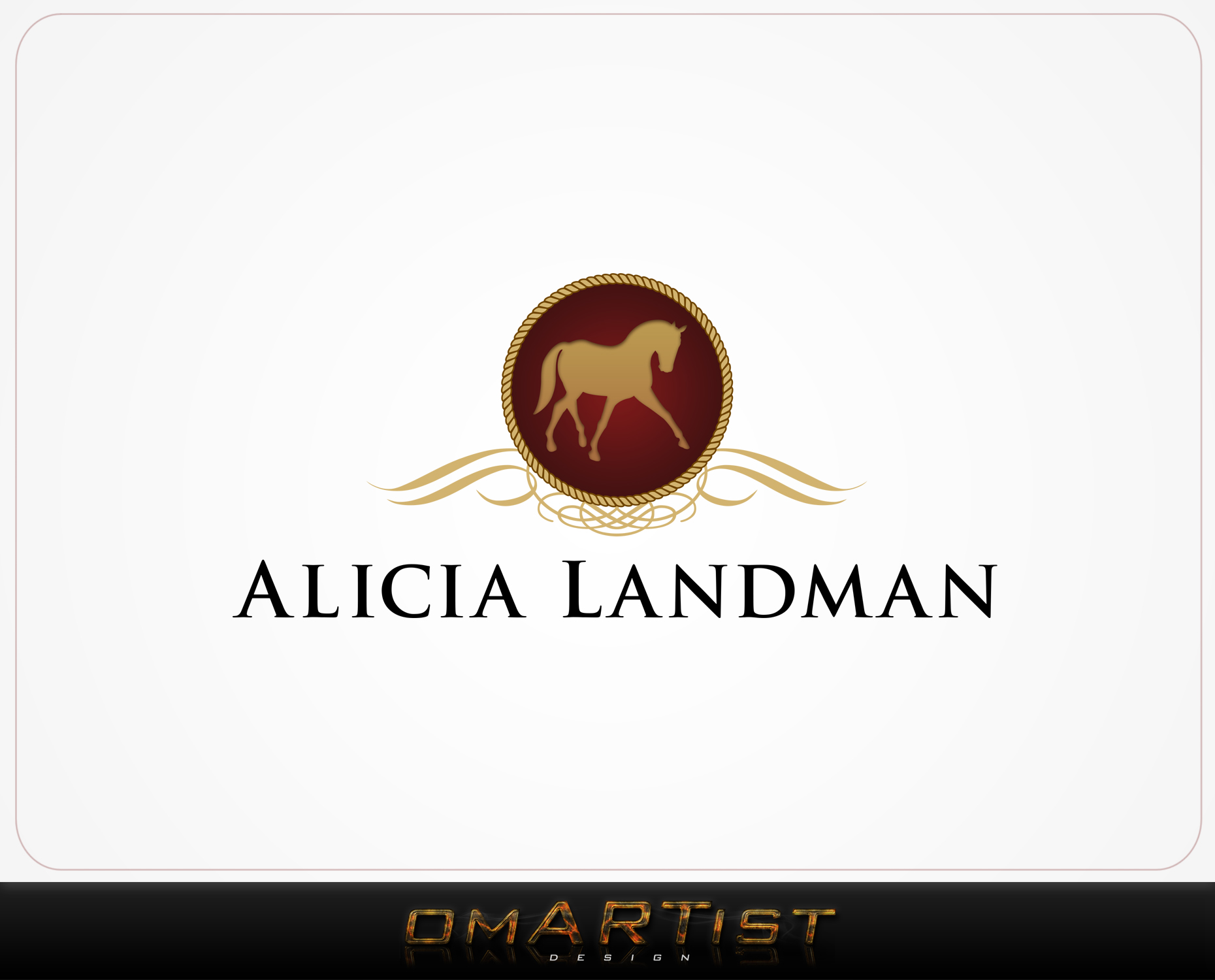 Logo Design by omARTist - Entry No. 68 in the Logo Design Contest Fun Logo Design for Alicia Landman.