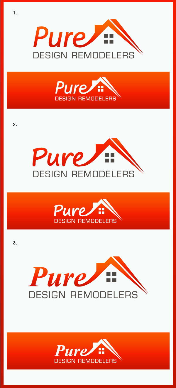 Logo Design by Creasian - Entry No. 120 in the Logo Design Contest Custom Logo Design for Pure Design Remodelers.