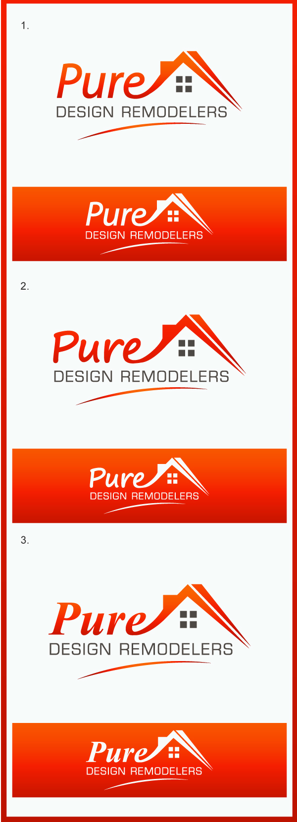 Logo Design by Creasian - Entry No. 121 in the Logo Design Contest Custom Logo Design for Pure Design Remodelers.