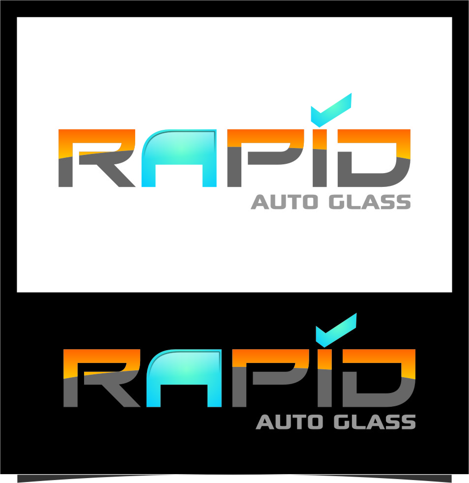 Logo Design by Ngepet_art - Entry No. 89 in the Logo Design Contest Unique Logo Design Wanted for Rapid Auto Glass.
