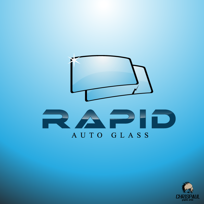 Logo Design by zesthar - Entry No. 91 in the Logo Design Contest Unique Logo Design Wanted for Rapid Auto Glass.