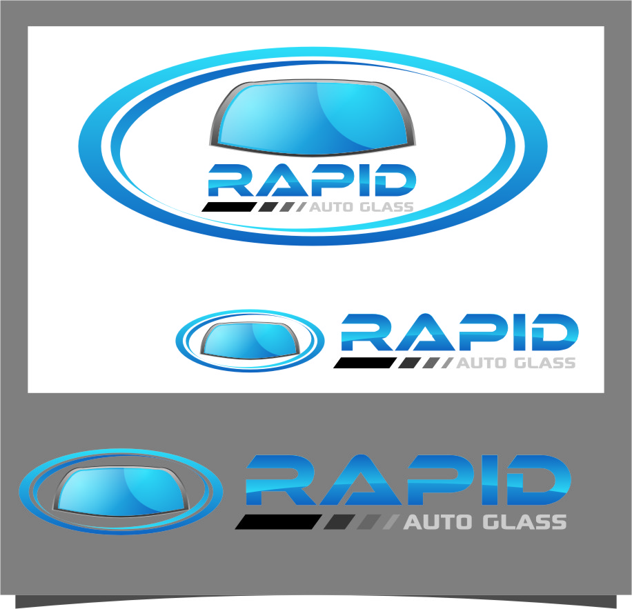 Logo Design by RasYa Muhammad Athaya - Entry No. 92 in the Logo Design Contest Unique Logo Design Wanted for Rapid Auto Glass.