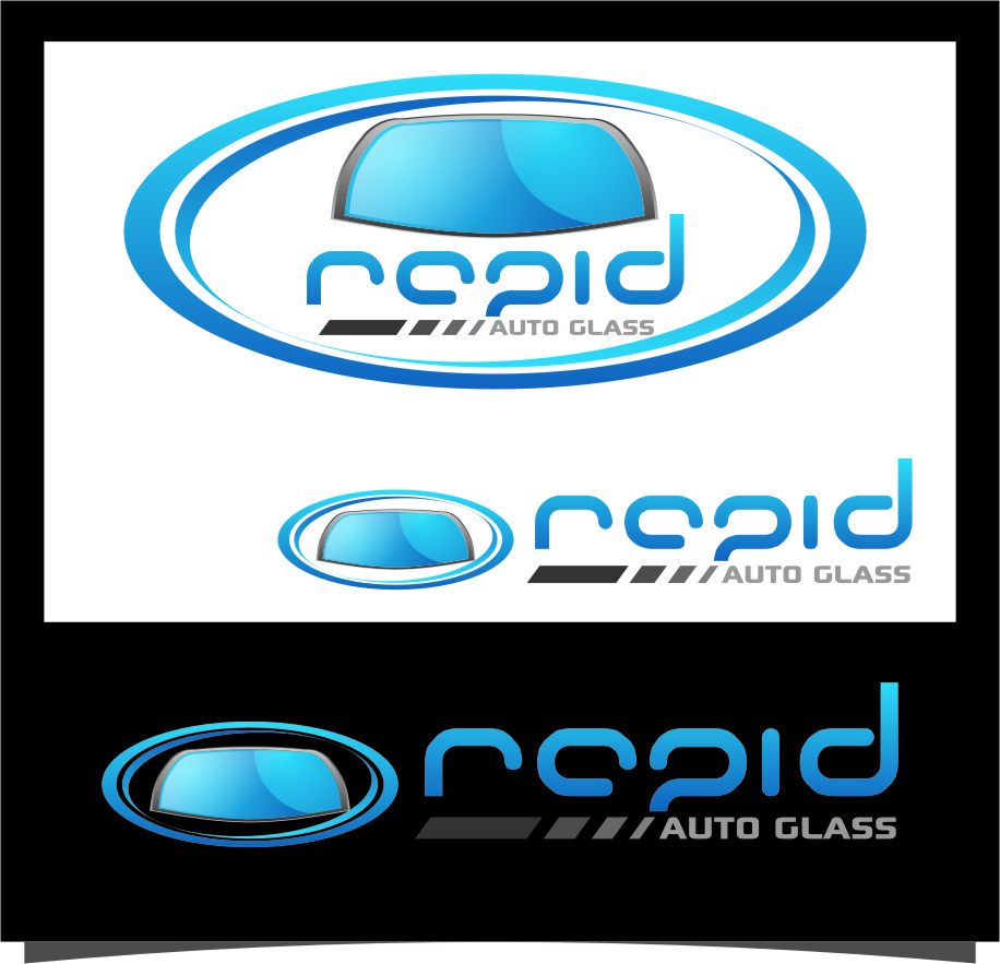 Logo Design by RasYa Muhammad Athaya - Entry No. 96 in the Logo Design Contest Unique Logo Design Wanted for Rapid Auto Glass.