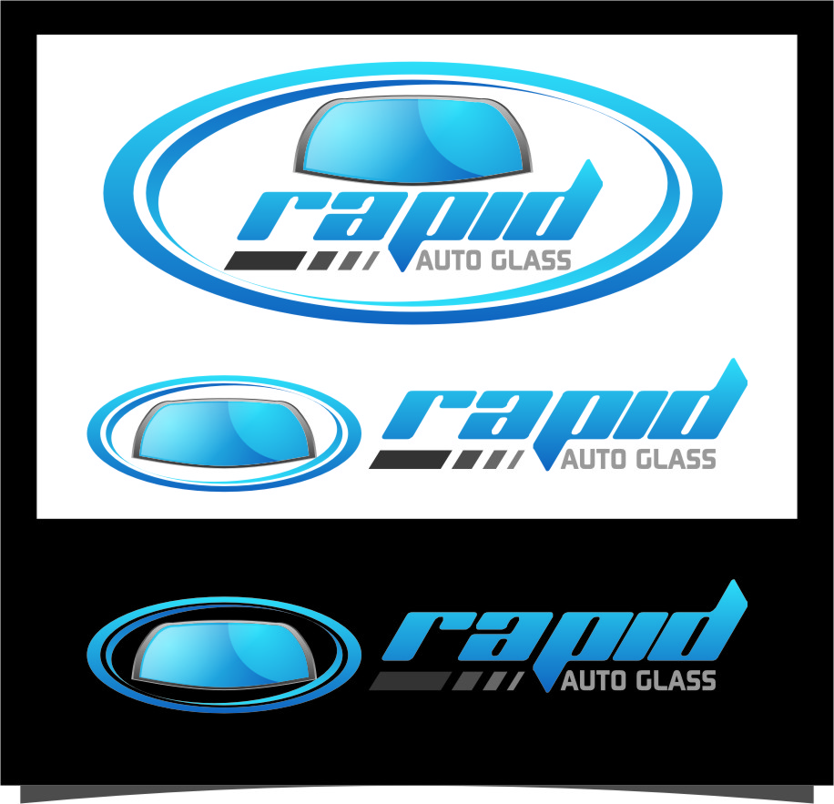 Logo Design by RasYa Muhammad Athaya - Entry No. 97 in the Logo Design Contest Unique Logo Design Wanted for Rapid Auto Glass.