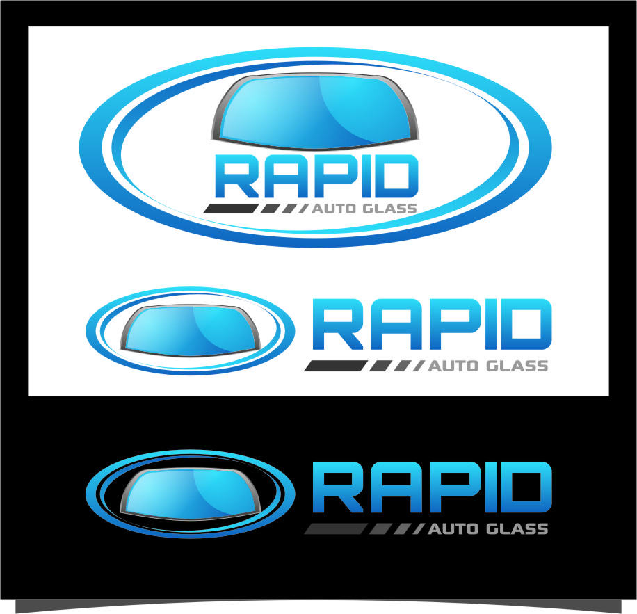 Logo Design by RoSyid Rono-Rene On Java - Entry No. 98 in the Logo Design Contest Unique Logo Design Wanted for Rapid Auto Glass.