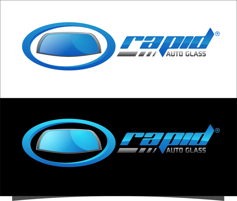 Logo Design by Ngepet_art - Entry No. 101 in the Logo Design Contest Unique Logo Design Wanted for Rapid Auto Glass.