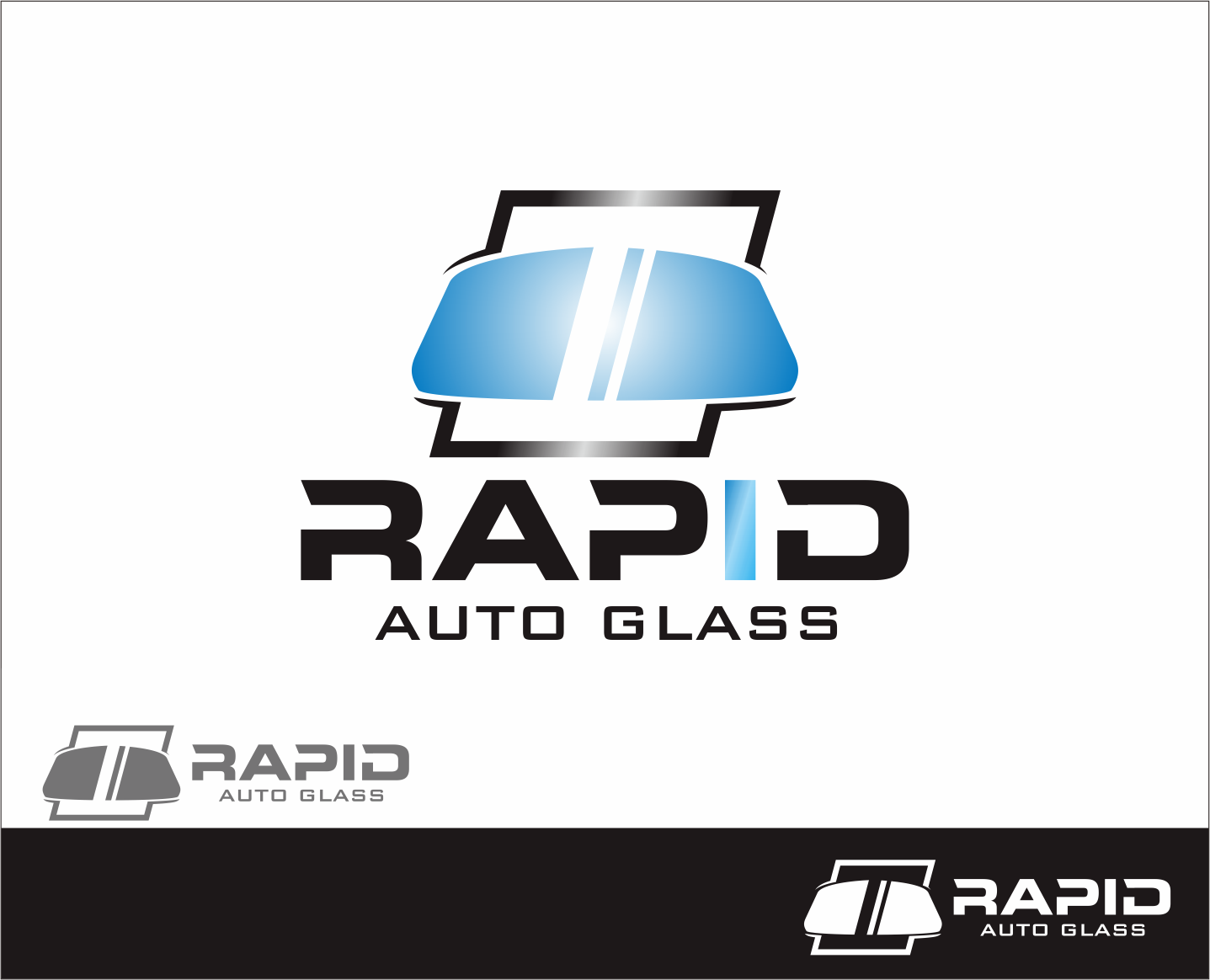 Logo Design by Armada Jamaluddin - Entry No. 102 in the Logo Design Contest Unique Logo Design Wanted for Rapid Auto Glass.