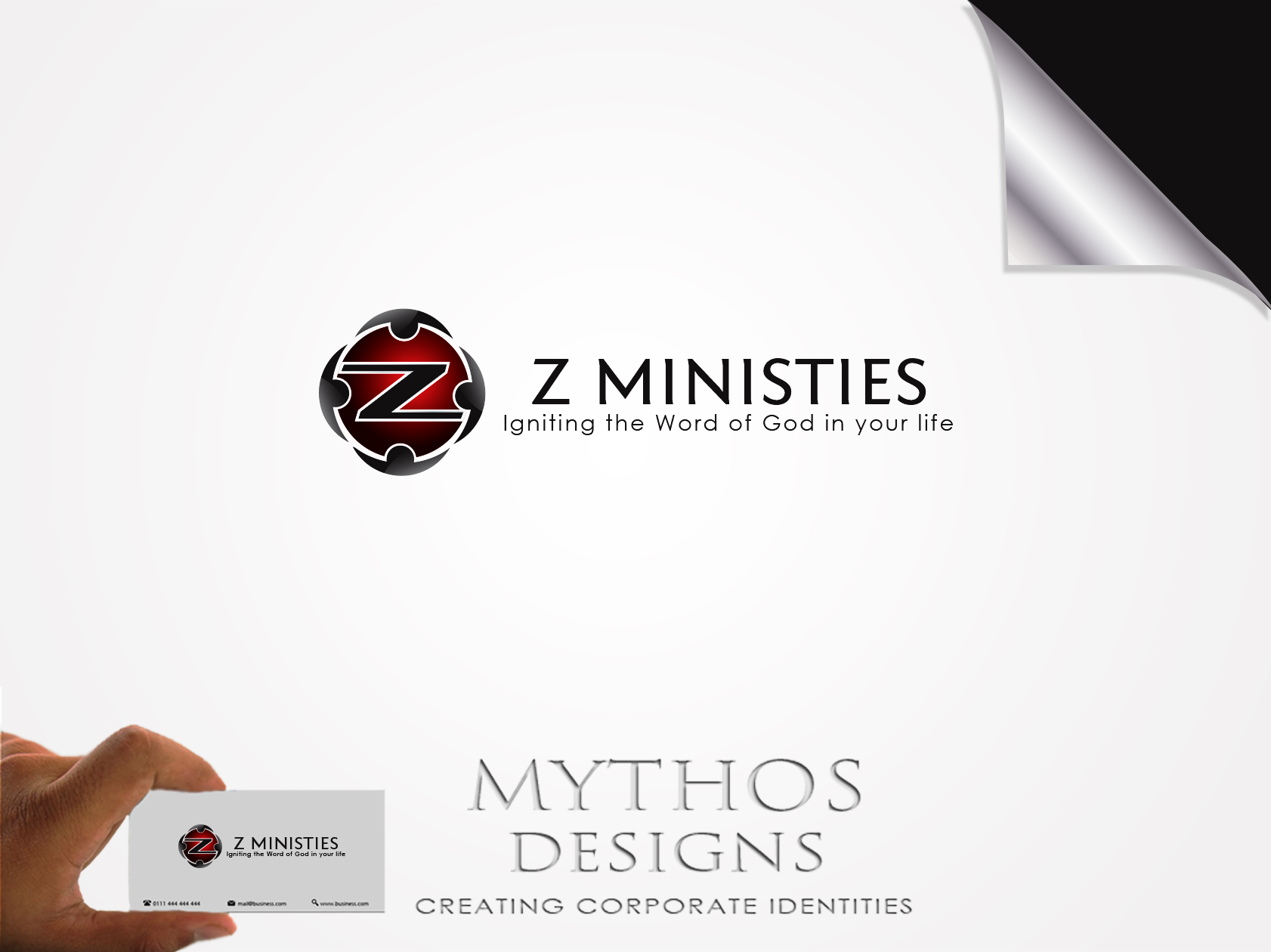 Logo Design by Mythos Designs - Entry No. 133 in the Logo Design Contest Artistic Logo Design for Z Ministries.