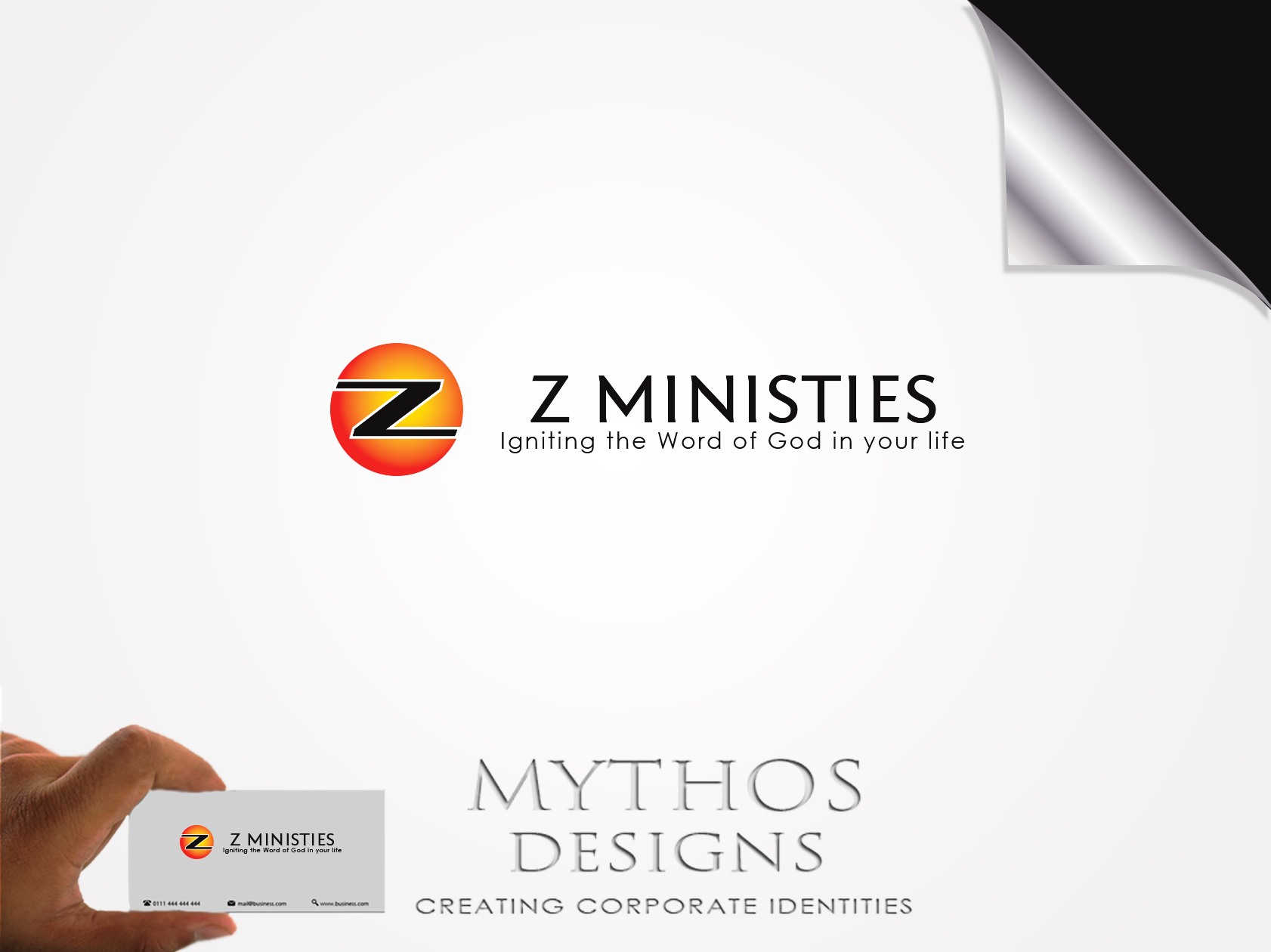 Logo Design by Mythos Designs - Entry No. 134 in the Logo Design Contest Artistic Logo Design for Z Ministries.