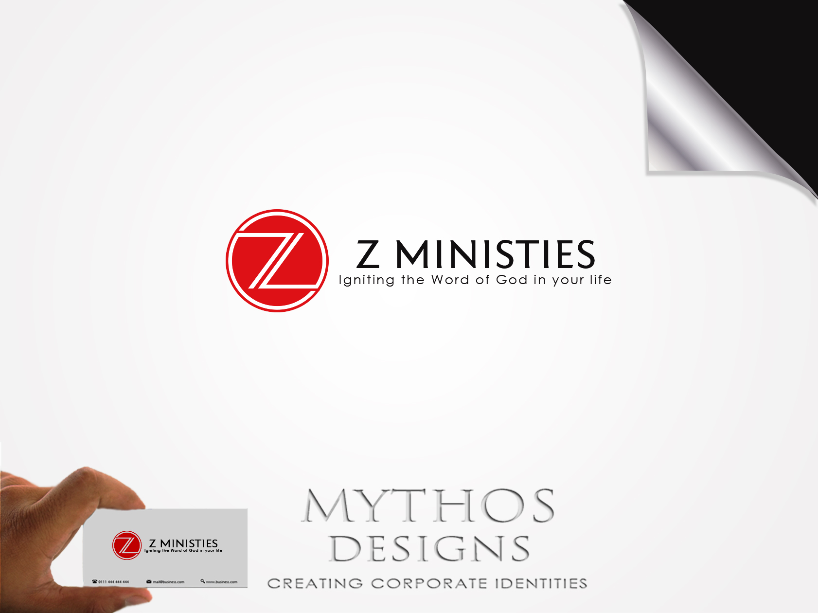 Logo Design by Mythos Designs - Entry No. 137 in the Logo Design Contest Artistic Logo Design for Z Ministries.