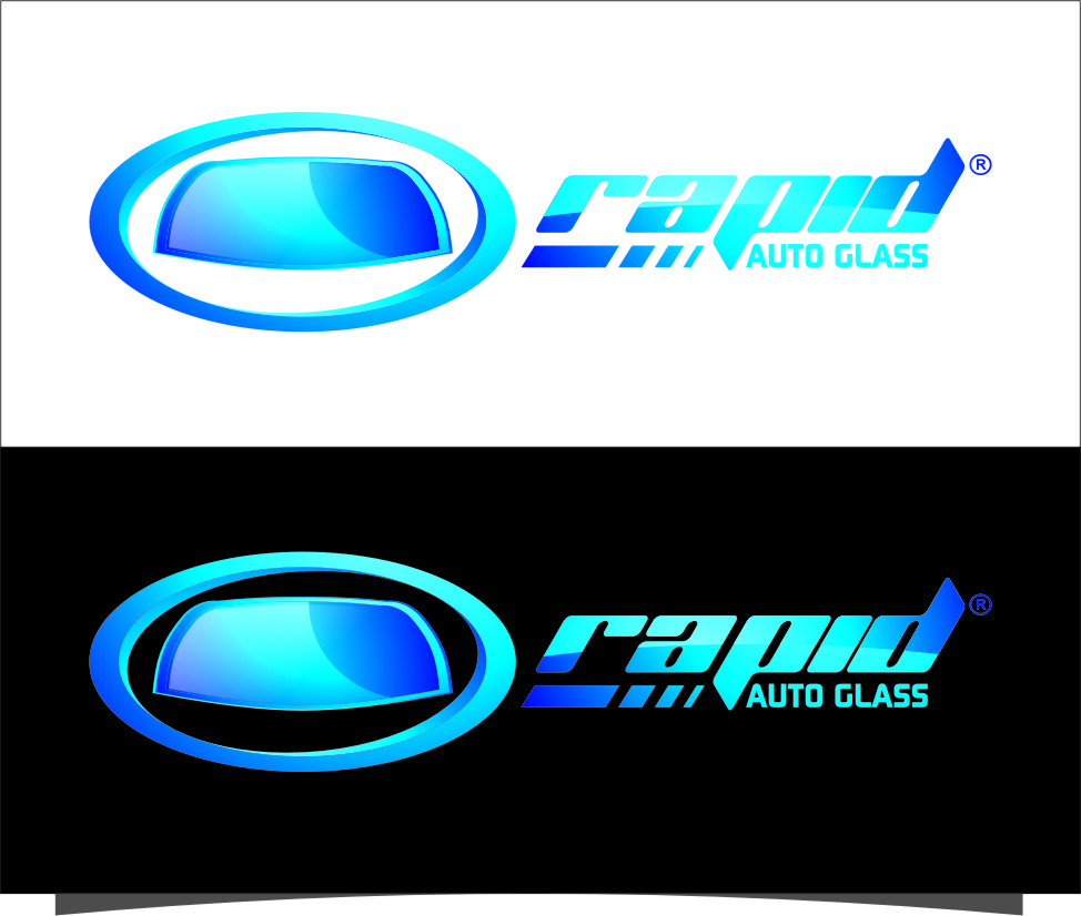 Logo Design by Ngepet_art - Entry No. 111 in the Logo Design Contest Unique Logo Design Wanted for Rapid Auto Glass.