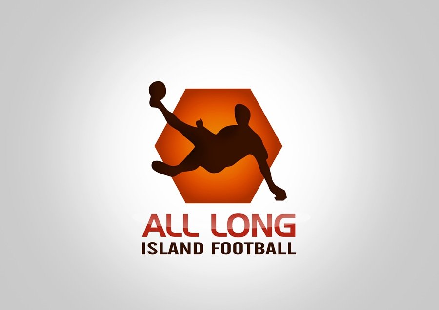 Logo Design by Respati Himawan - Entry No. 17 in the Logo Design Contest Unique Logo Design Wanted for ALL LONG ISLAND FOOTBALL.