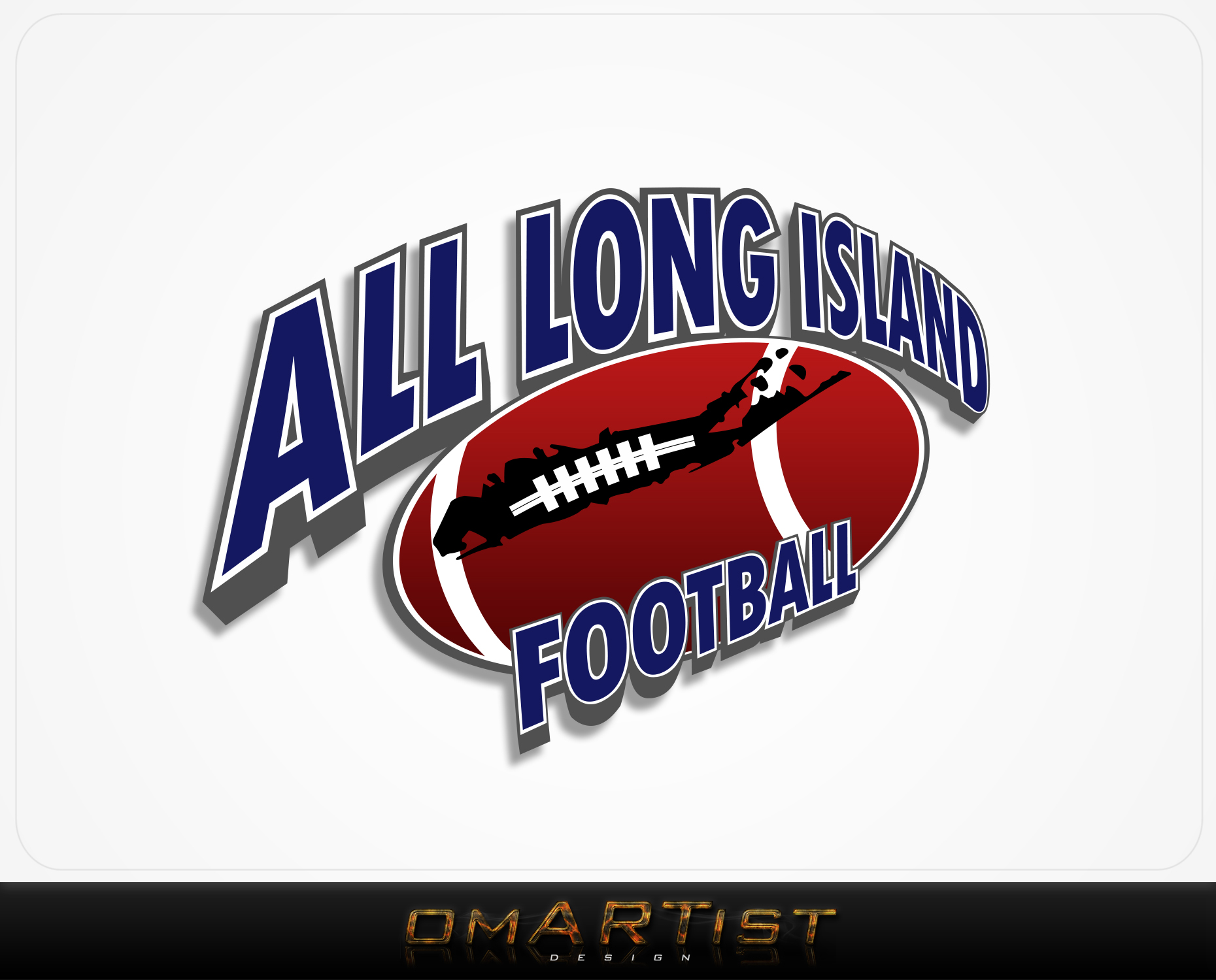 Logo Design by omARTist - Entry No. 21 in the Logo Design Contest Unique Logo Design Wanted for ALL LONG ISLAND FOOTBALL.