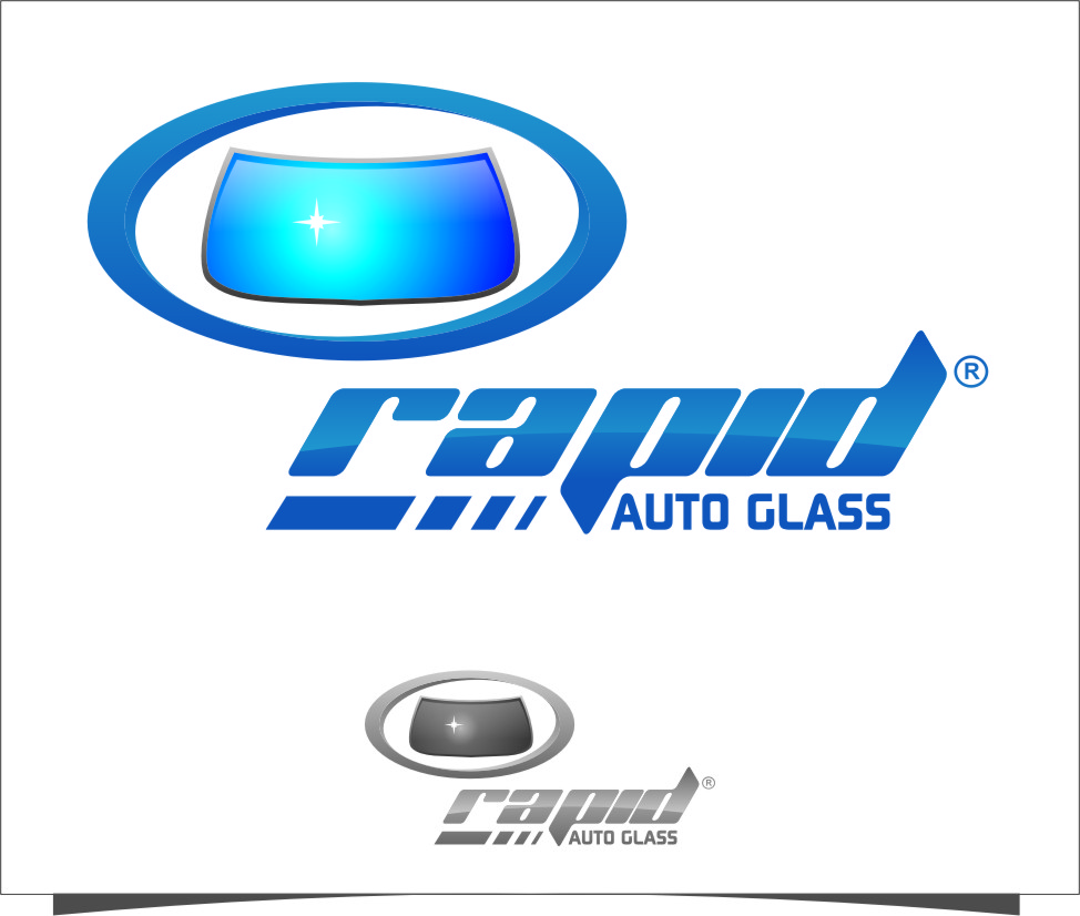 Logo Design by RasYa Muhammad Athaya - Entry No. 113 in the Logo Design Contest Unique Logo Design Wanted for Rapid Auto Glass.