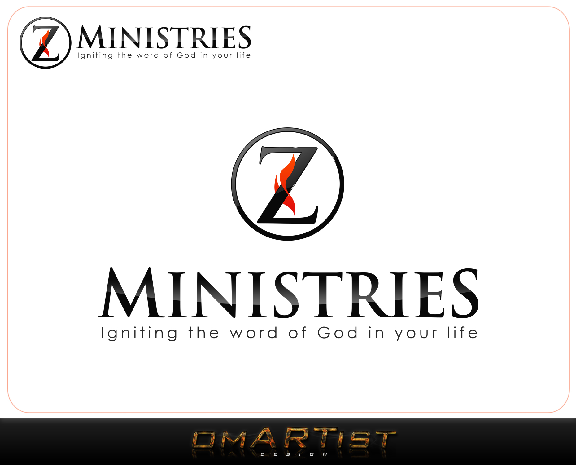Logo Design by omARTist - Entry No. 161 in the Logo Design Contest Artistic Logo Design for Z Ministries.