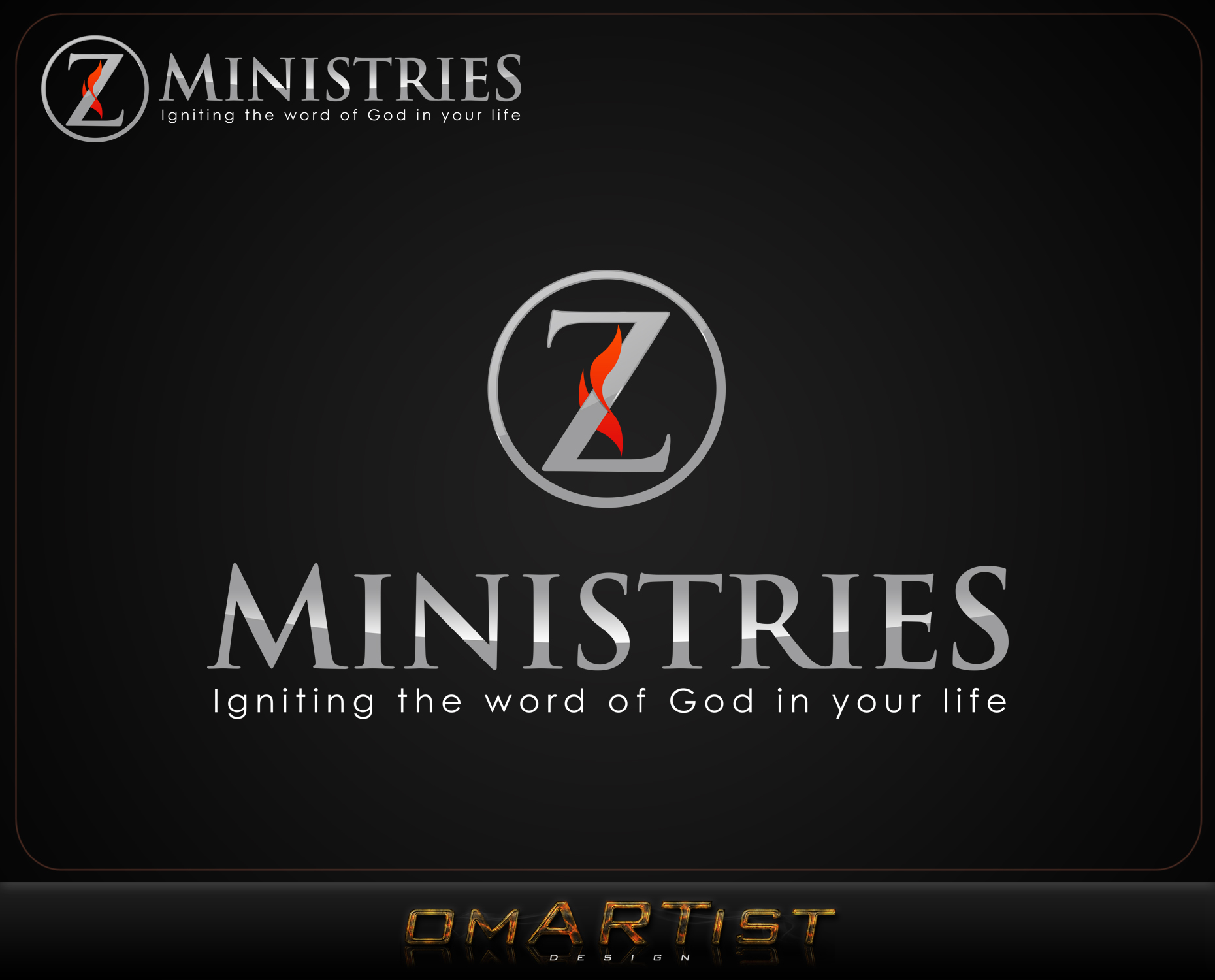 Logo Design by omARTist - Entry No. 162 in the Logo Design Contest Artistic Logo Design for Z Ministries.
