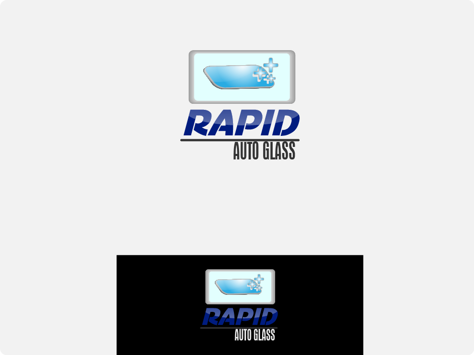 Logo Design by Private User - Entry No. 120 in the Logo Design Contest Unique Logo Design Wanted for Rapid Auto Glass.