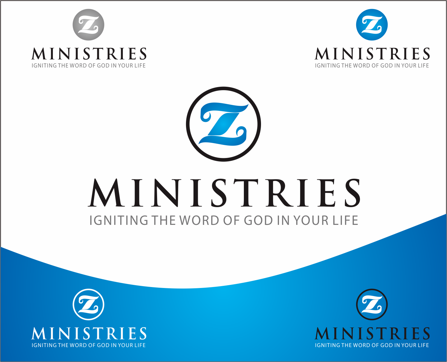 Logo Design by Armada Jamaluddin - Entry No. 168 in the Logo Design Contest Artistic Logo Design for Z Ministries.
