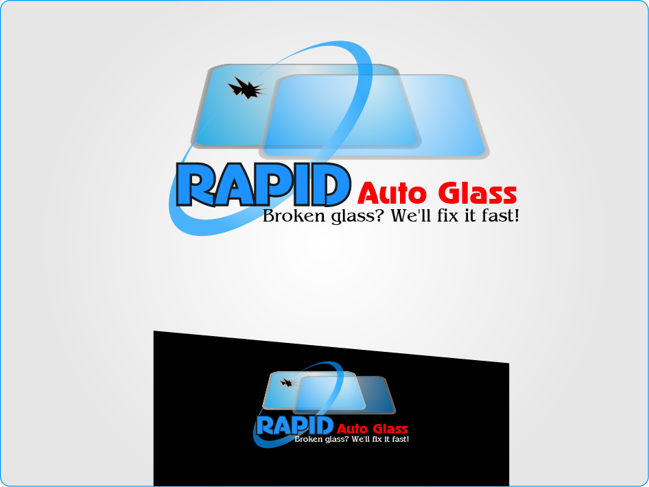 Logo Design by Private User - Entry No. 133 in the Logo Design Contest Unique Logo Design Wanted for Rapid Auto Glass.