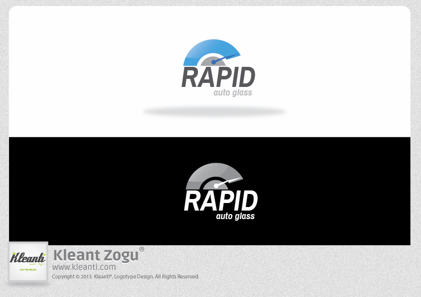 Logo Design by Kleant Zogu - Entry No. 134 in the Logo Design Contest Unique Logo Design Wanted for Rapid Auto Glass.