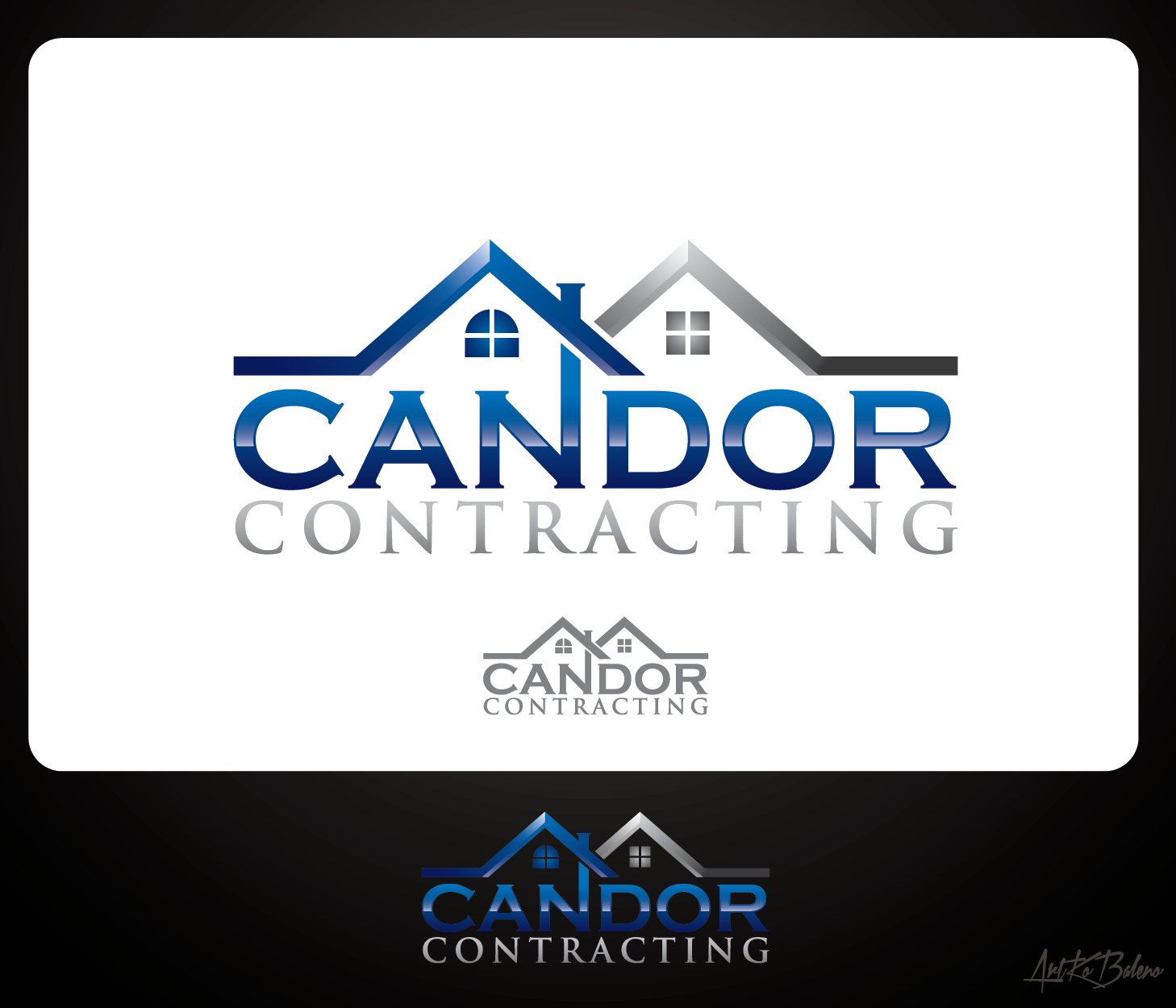 Logo Design by Private User - Entry No. 67 in the Logo Design Contest Unique Logo Design Wanted for Candor Contracting.