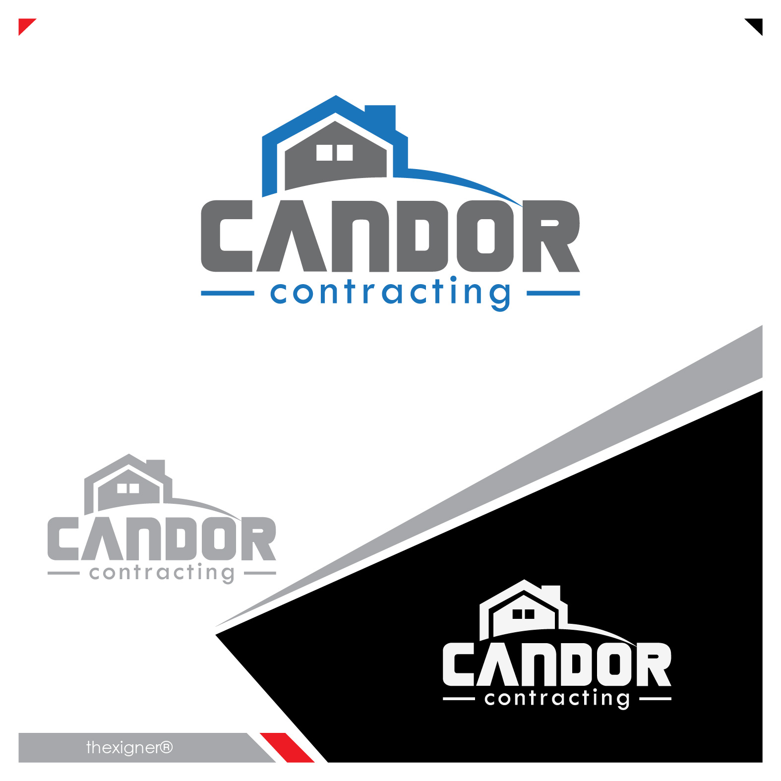 Logo Design by lagalag - Entry No. 70 in the Logo Design Contest Unique Logo Design Wanted for Candor Contracting.