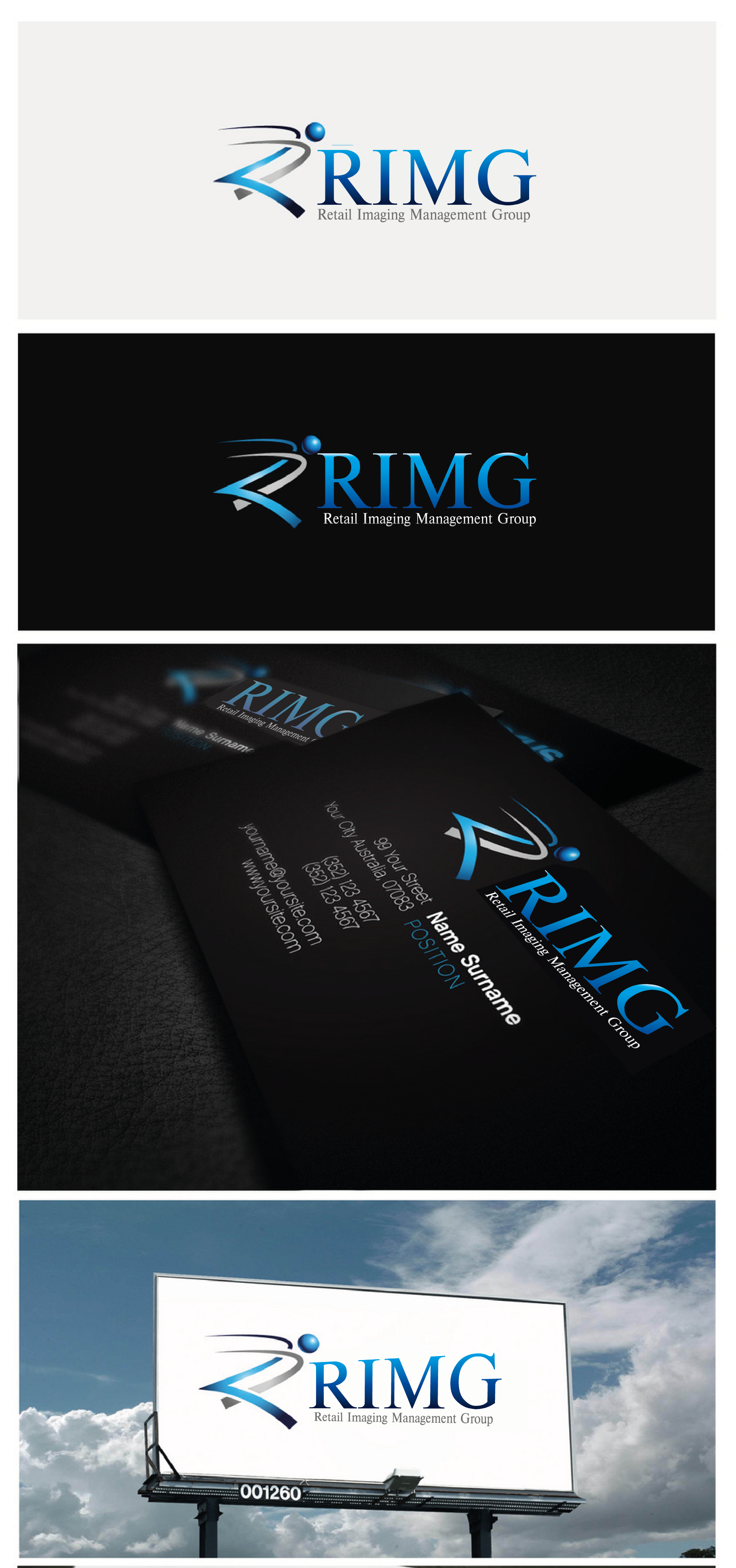 Logo Design by Private User - Entry No. 100 in the Logo Design Contest Creative Logo Design for Retail Imaging Management Group (R.I.M.G.).