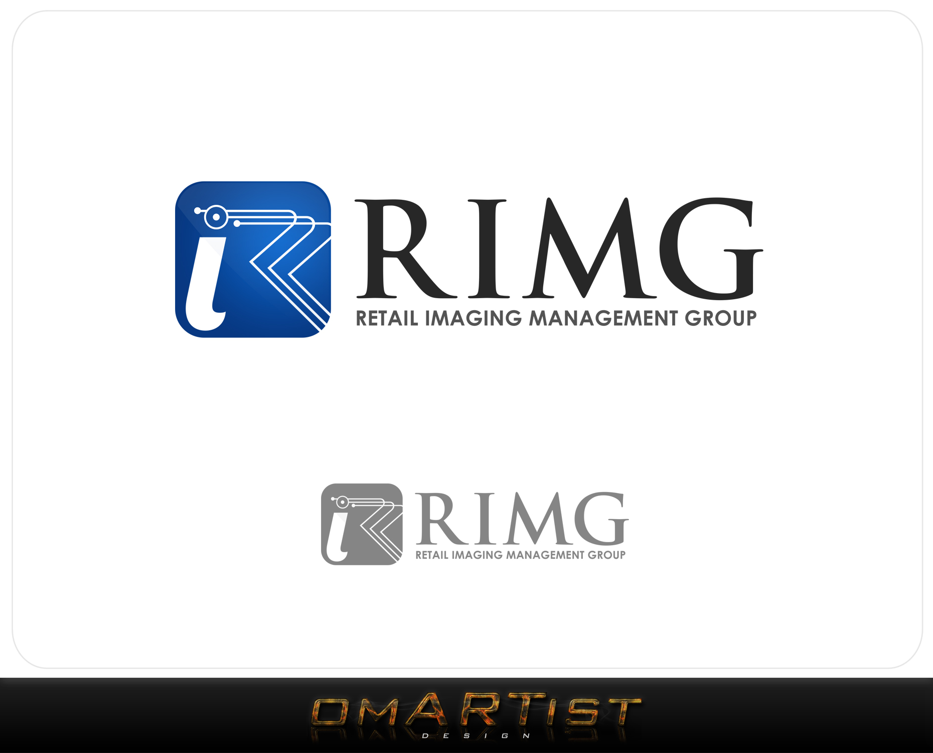 Logo Design by omARTist - Entry No. 120 in the Logo Design Contest Creative Logo Design for Retail Imaging Management Group (R.I.M.G.).