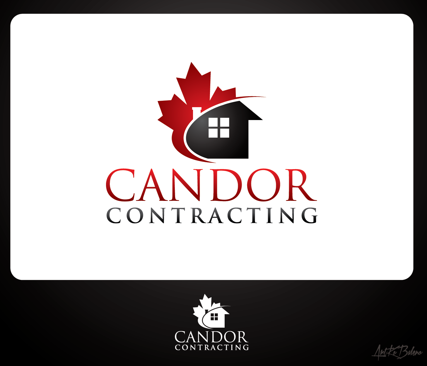Logo Design by Private User - Entry No. 90 in the Logo Design Contest Unique Logo Design Wanted for Candor Contracting.