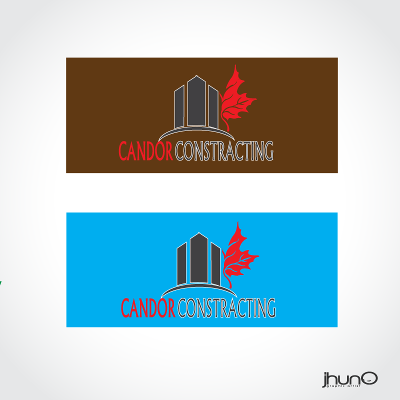 Logo Design by zesthar - Entry No. 97 in the Logo Design Contest Unique Logo Design Wanted for Candor Contracting.