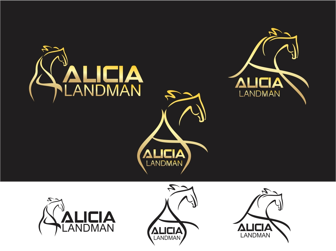 Logo Design by Rizwan Saeed - Entry No. 116 in the Logo Design Contest Fun Logo Design for Alicia Landman.