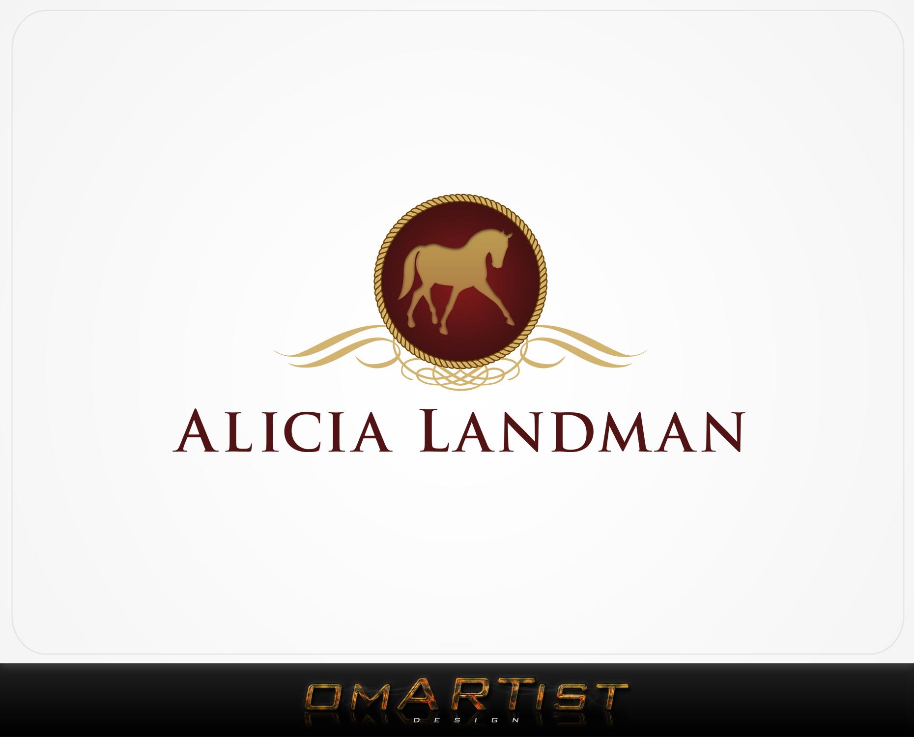 Logo Design by omARTist - Entry No. 117 in the Logo Design Contest Fun Logo Design for Alicia Landman.