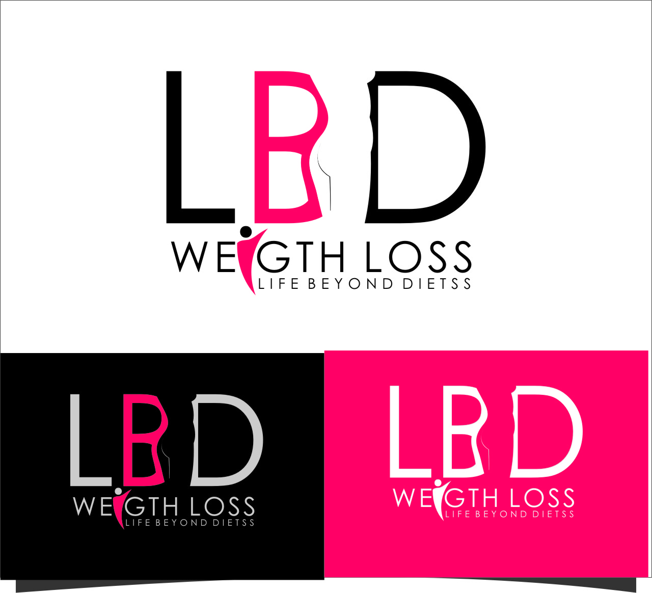 Logo Design by RoSyid Rono-Rene On Java - Entry No. 42 in the Logo Design Contest Imaginative Logo Design for LBD Weight Loss.