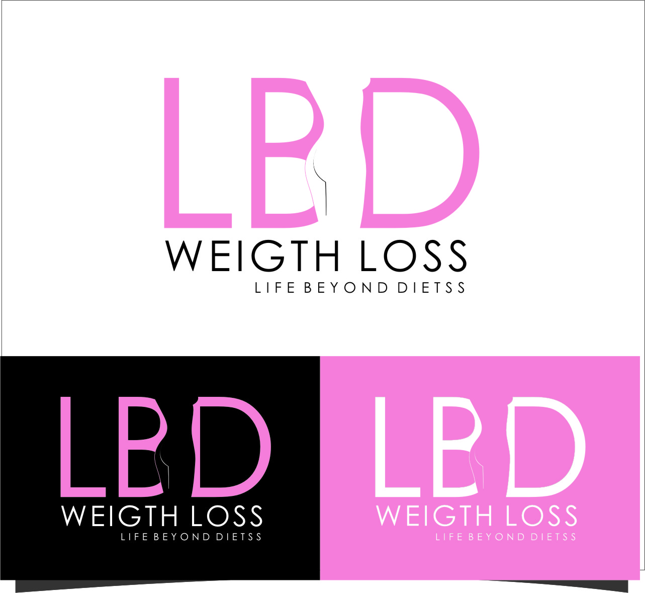 Logo Design by RasYa Muhammad Athaya - Entry No. 45 in the Logo Design Contest Imaginative Logo Design for LBD Weight Loss.