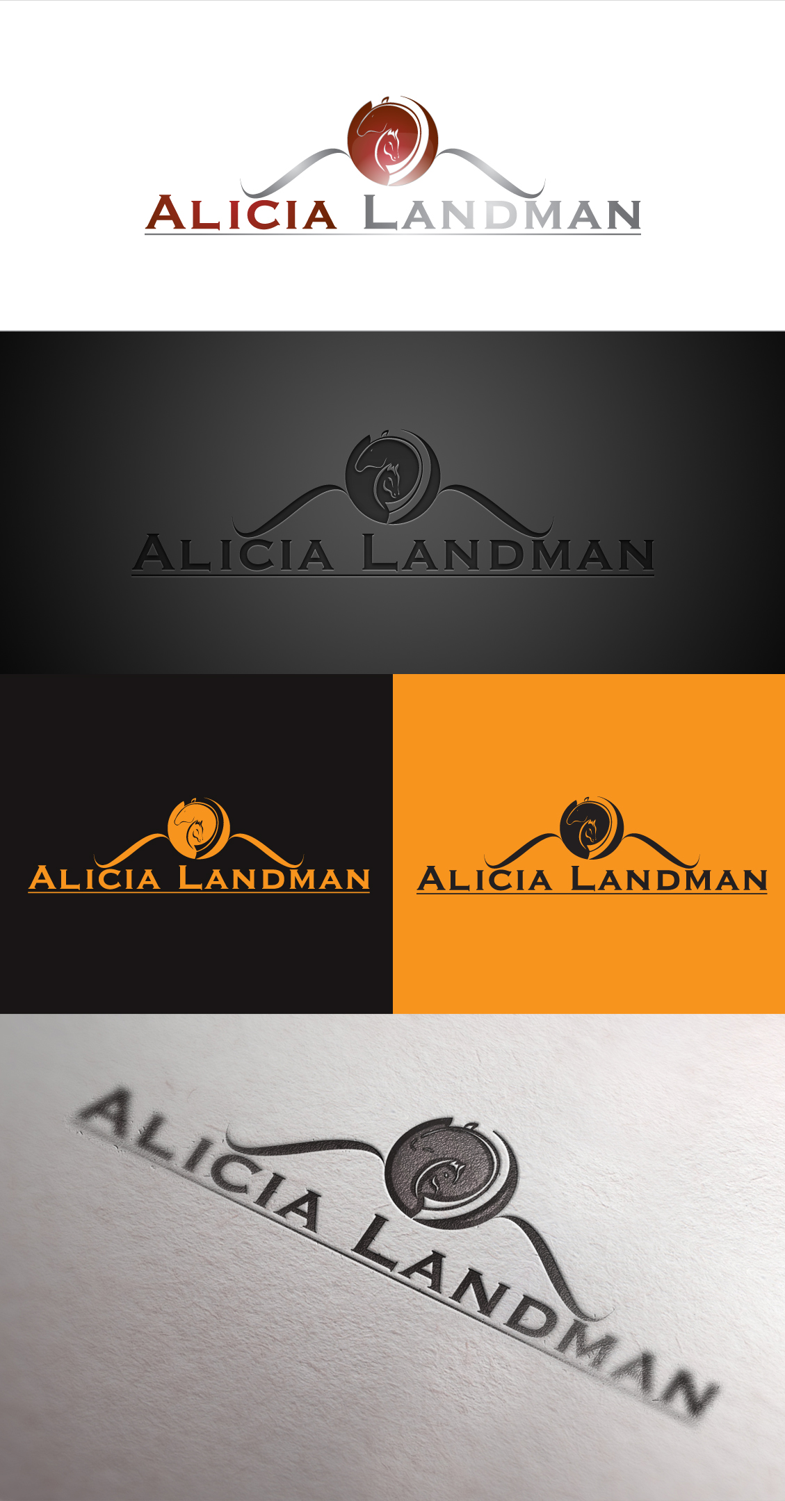 Logo Design by Shujaat Jaffri - Entry No. 126 in the Logo Design Contest Fun Logo Design for Alicia Landman.