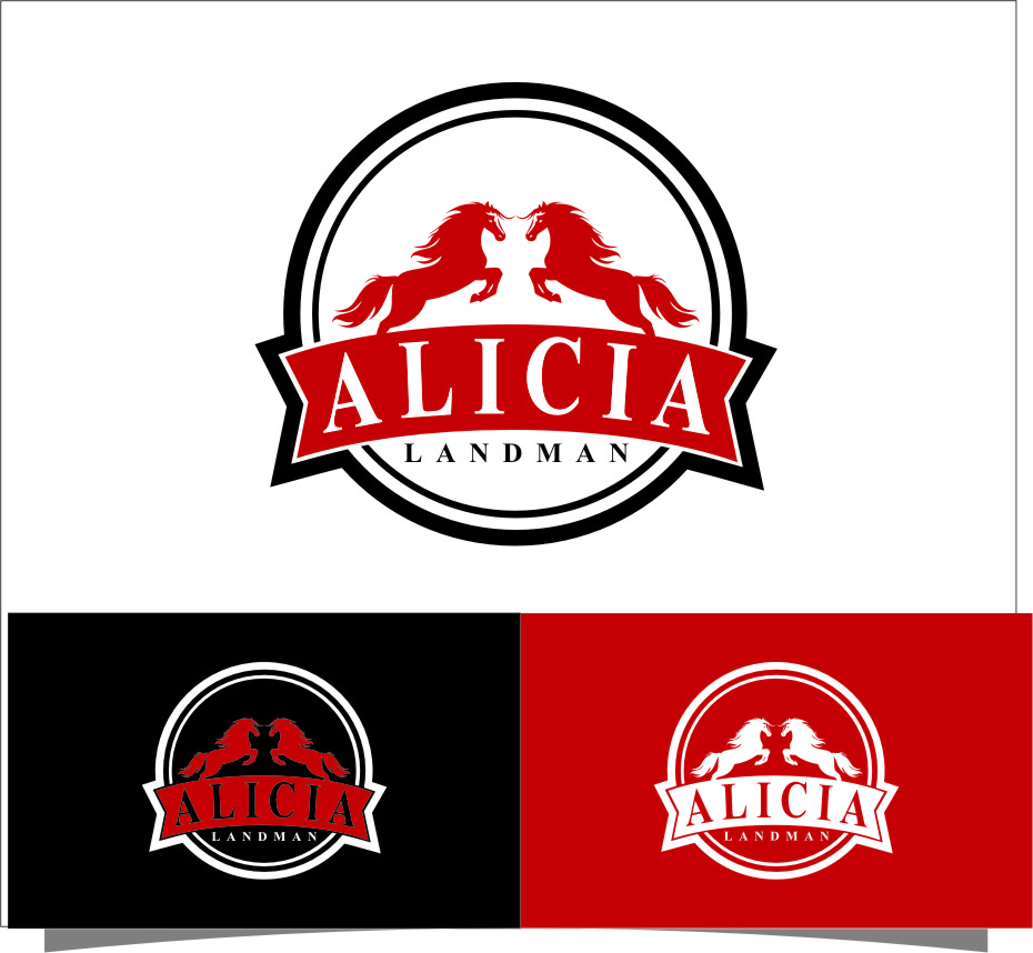 Logo Design by Ngepet_art - Entry No. 132 in the Logo Design Contest Fun Logo Design for Alicia Landman.