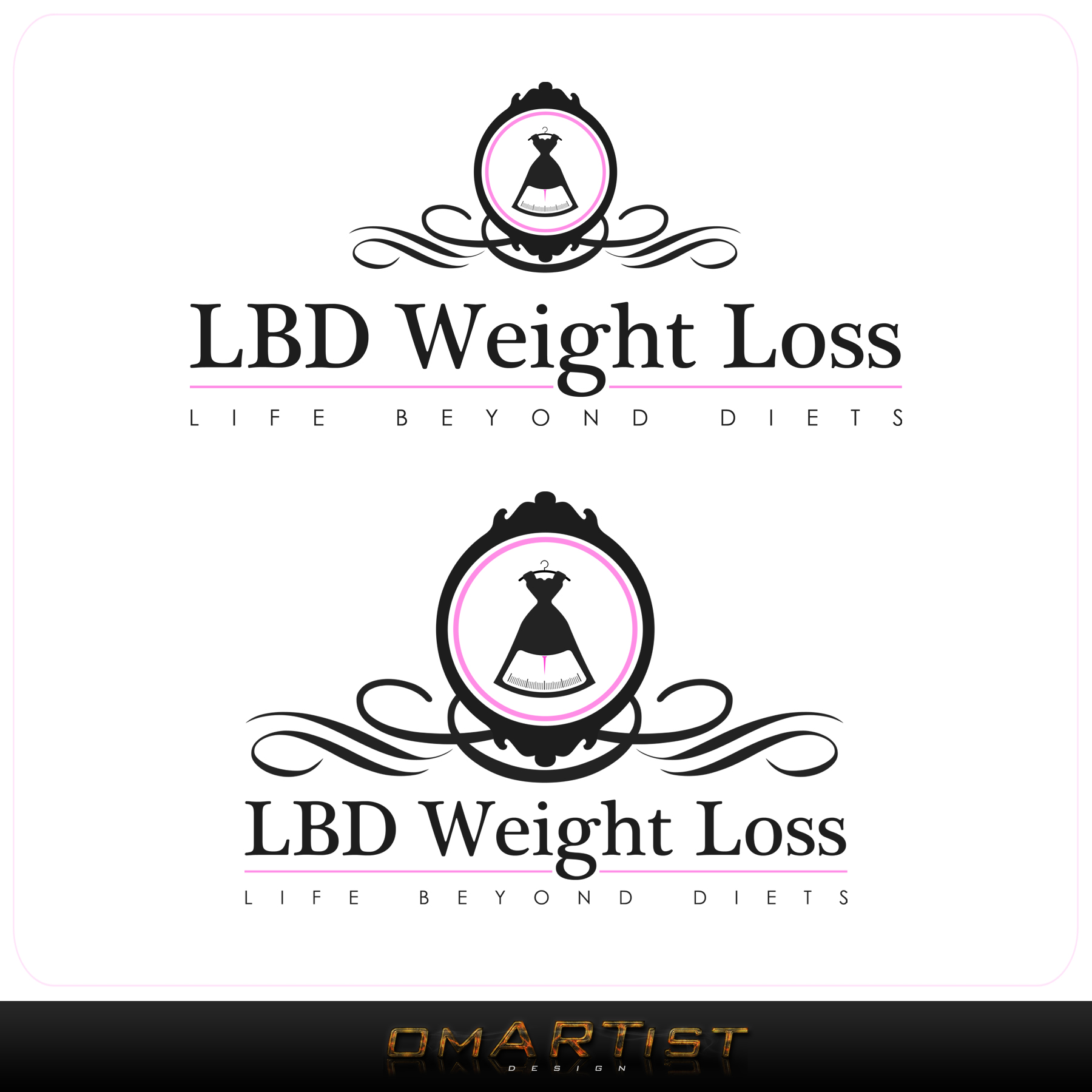 Logo Design by omARTist - Entry No. 66 in the Logo Design Contest Imaginative Logo Design for LBD Weight Loss.