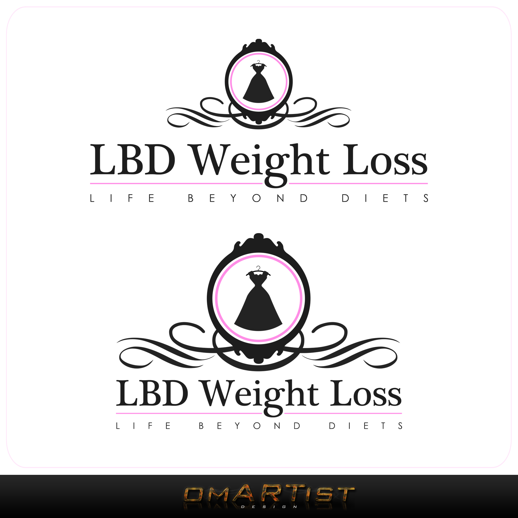 Logo Design by omARTist - Entry No. 68 in the Logo Design Contest Imaginative Logo Design for LBD Weight Loss.