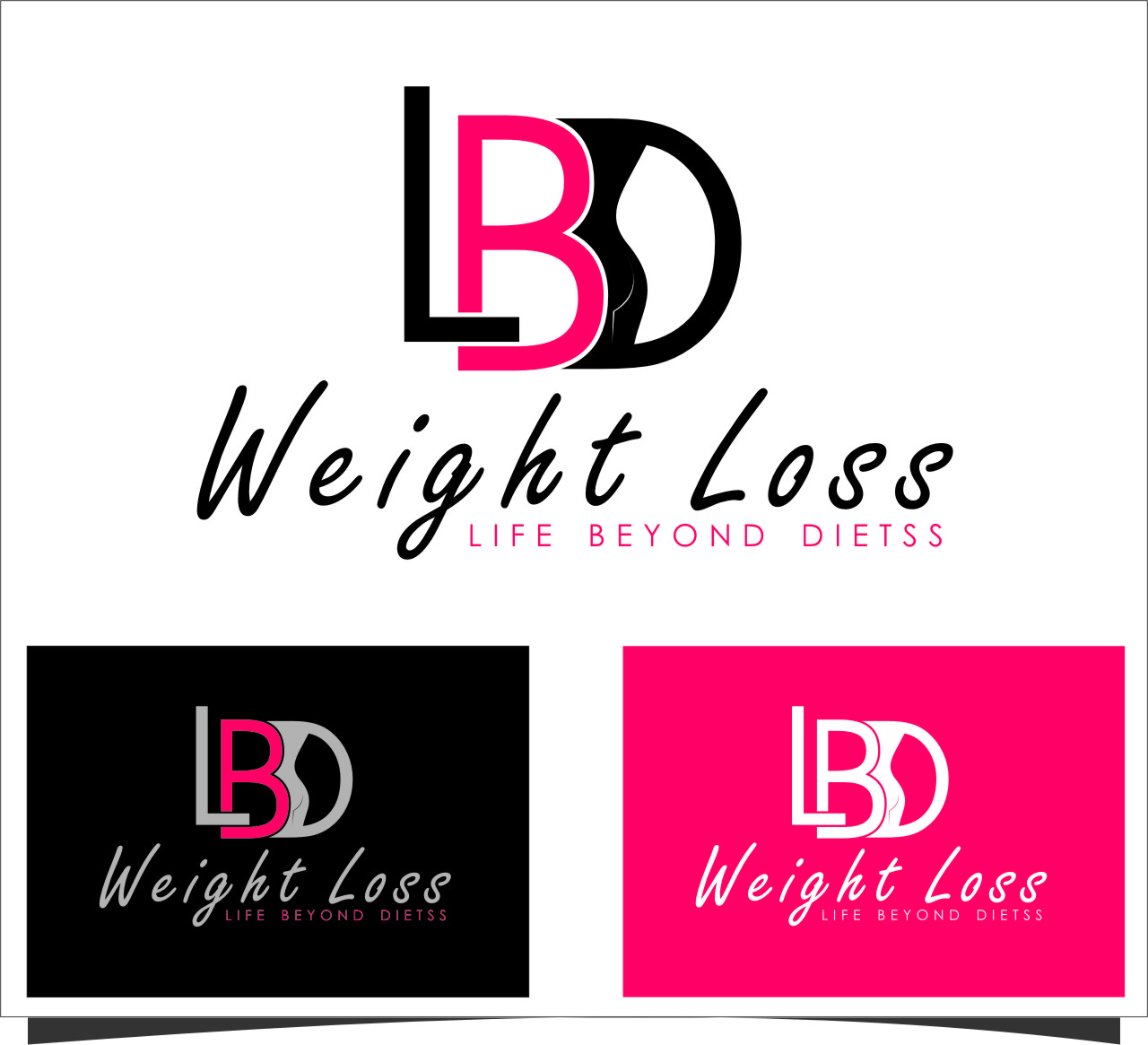 Logo Design by RasYa Muhammad Athaya - Entry No. 86 in the Logo Design Contest Imaginative Logo Design for LBD Weight Loss.