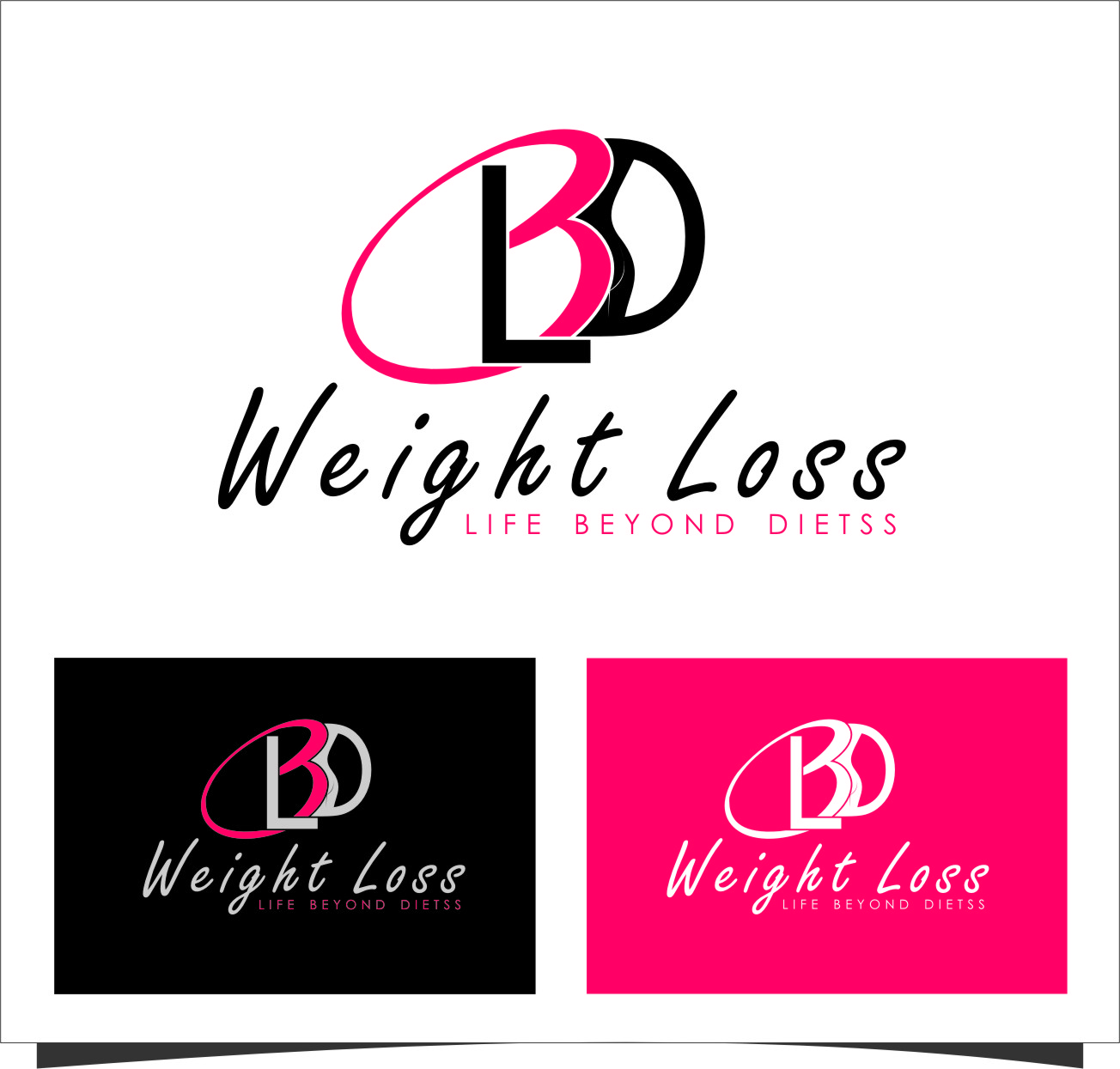 Logo Design by RoSyid Rono-Rene On Java - Entry No. 88 in the Logo Design Contest Imaginative Logo Design for LBD Weight Loss.