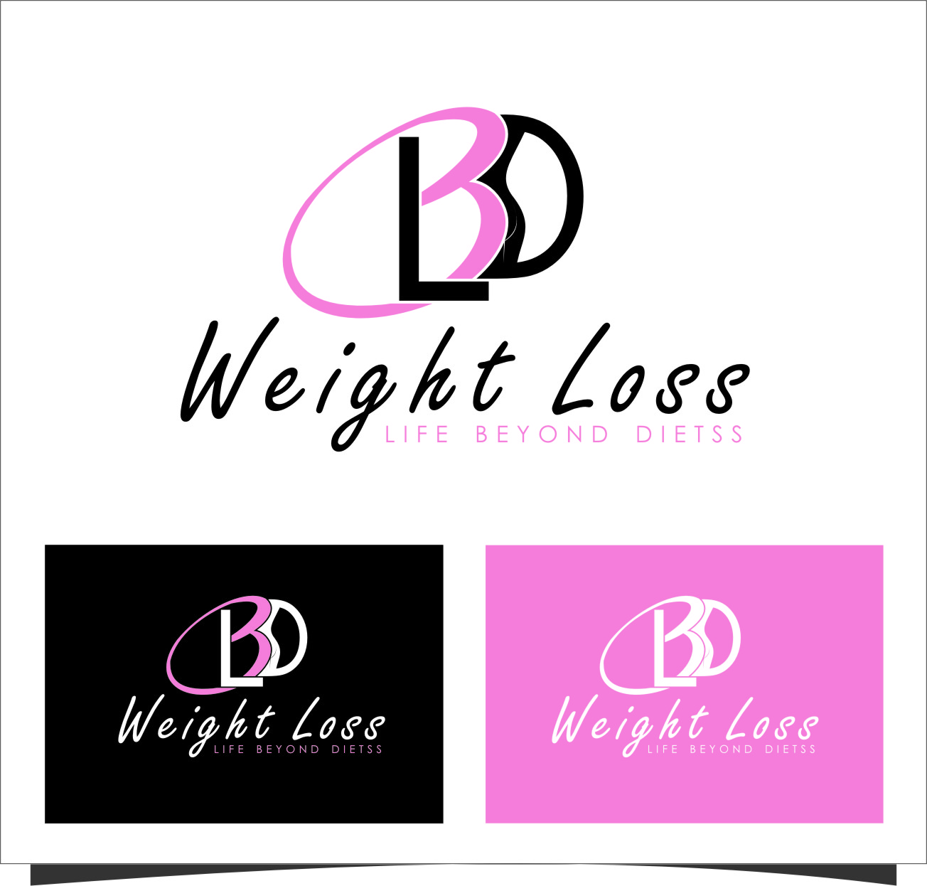 Logo Design by RasYa Muhammad Athaya - Entry No. 92 in the Logo Design Contest Imaginative Logo Design for LBD Weight Loss.