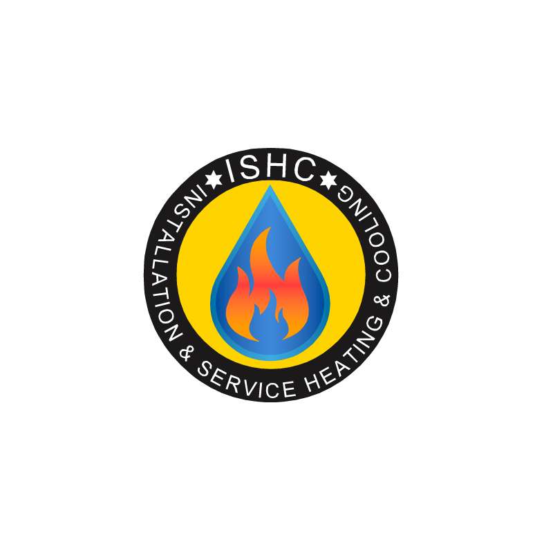 Logo Design by RAJU CHATTERJEE - Entry No. 4 in the Logo Design Contest New Logo Design for Installation & Service Heating & Cooling (ISHC).