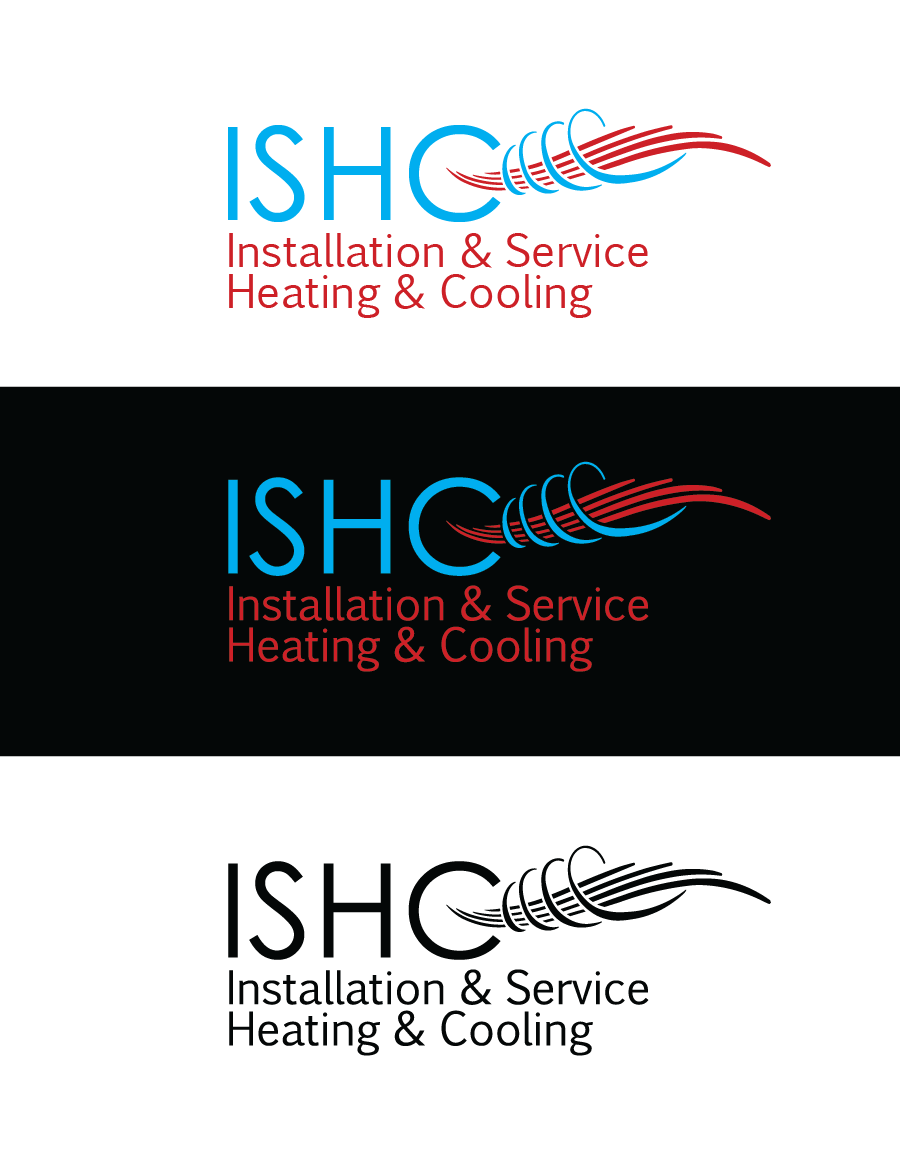 Logo Design by Christina Evans - Entry No. 10 in the Logo Design Contest New Logo Design for Installation & Service Heating & Cooling (ISHC).