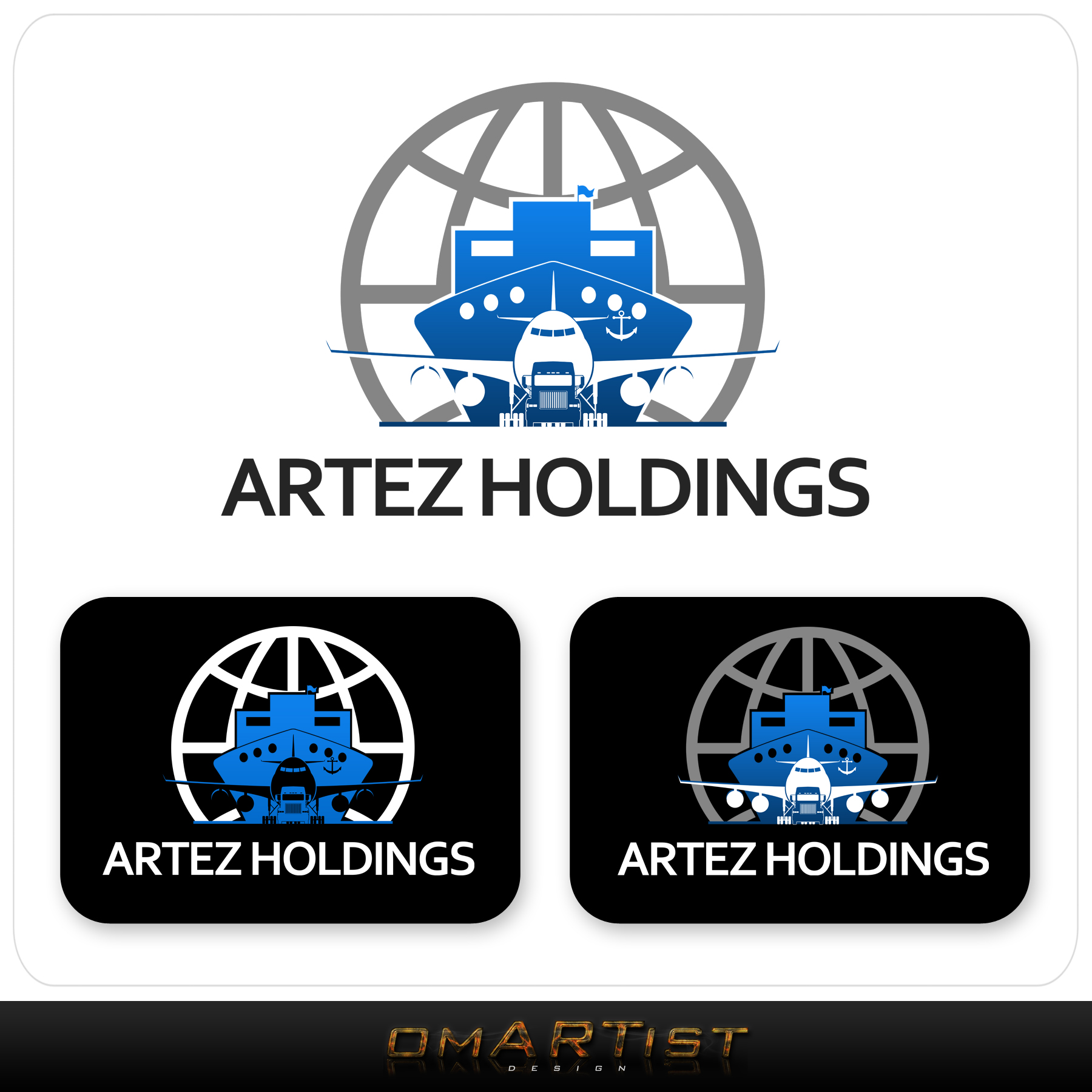 Logo Design by omARTist - Entry No. 52 in the Logo Design Contest New Logo Design for Artez Holdings.