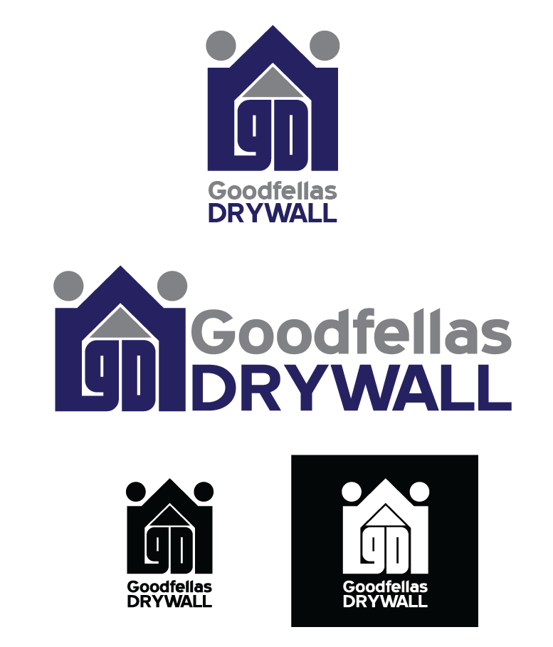 Logo Design by Christina Evans - Entry No. 4 in the Logo Design Contest Creative Logo Design for Goodfellas Drywall.