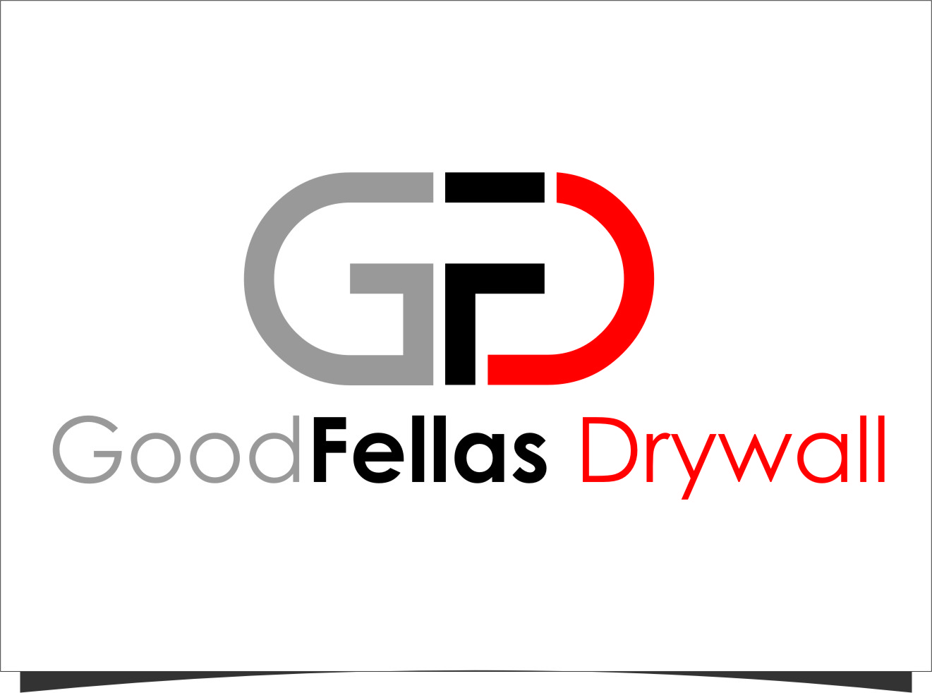 Logo Design by Ngepet_art - Entry No. 8 in the Logo Design Contest Creative Logo Design for Goodfellas Drywall.