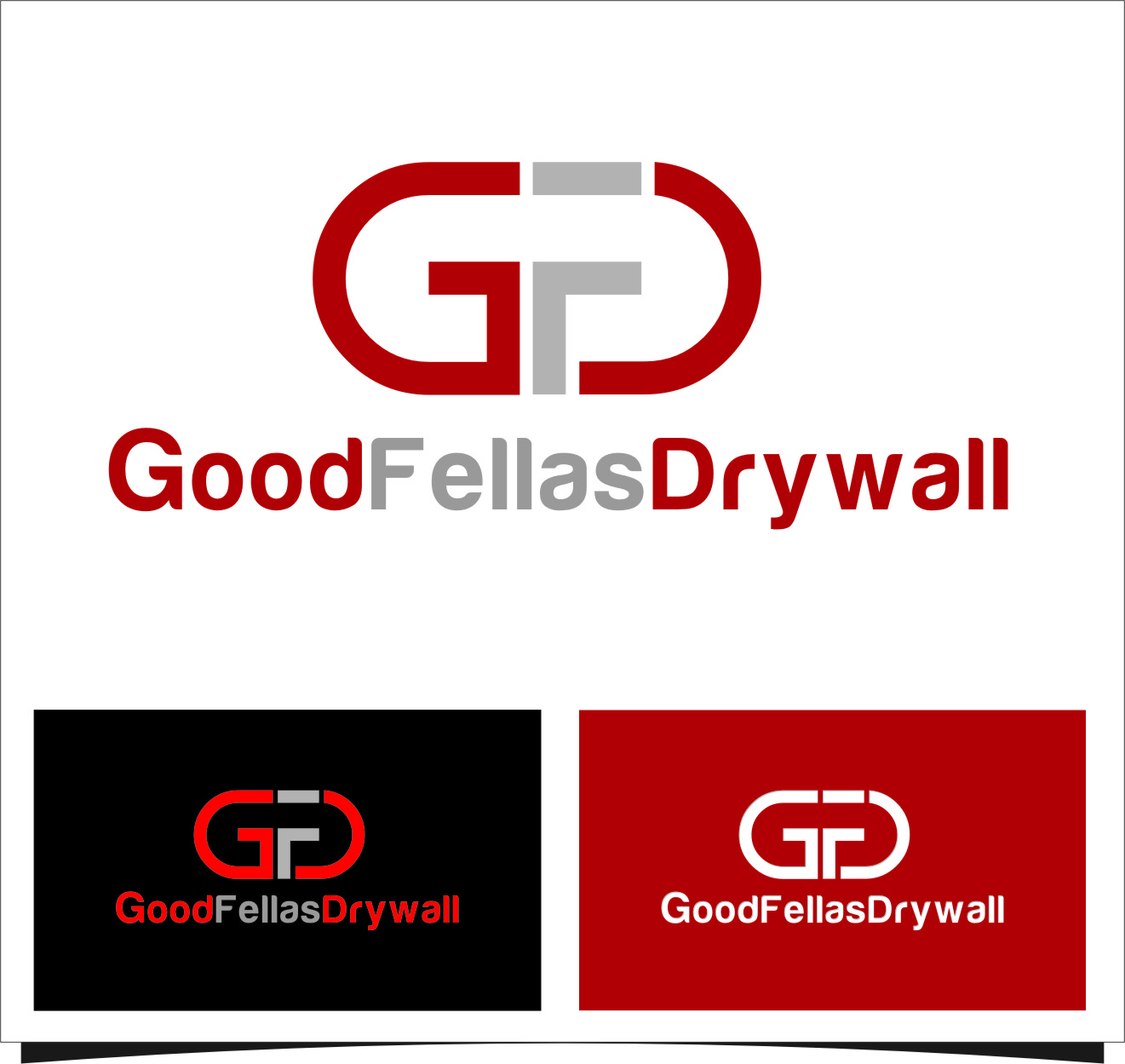 Logo Design by RoSyid Rono-Rene On Java - Entry No. 12 in the Logo Design Contest Creative Logo Design for Goodfellas Drywall.