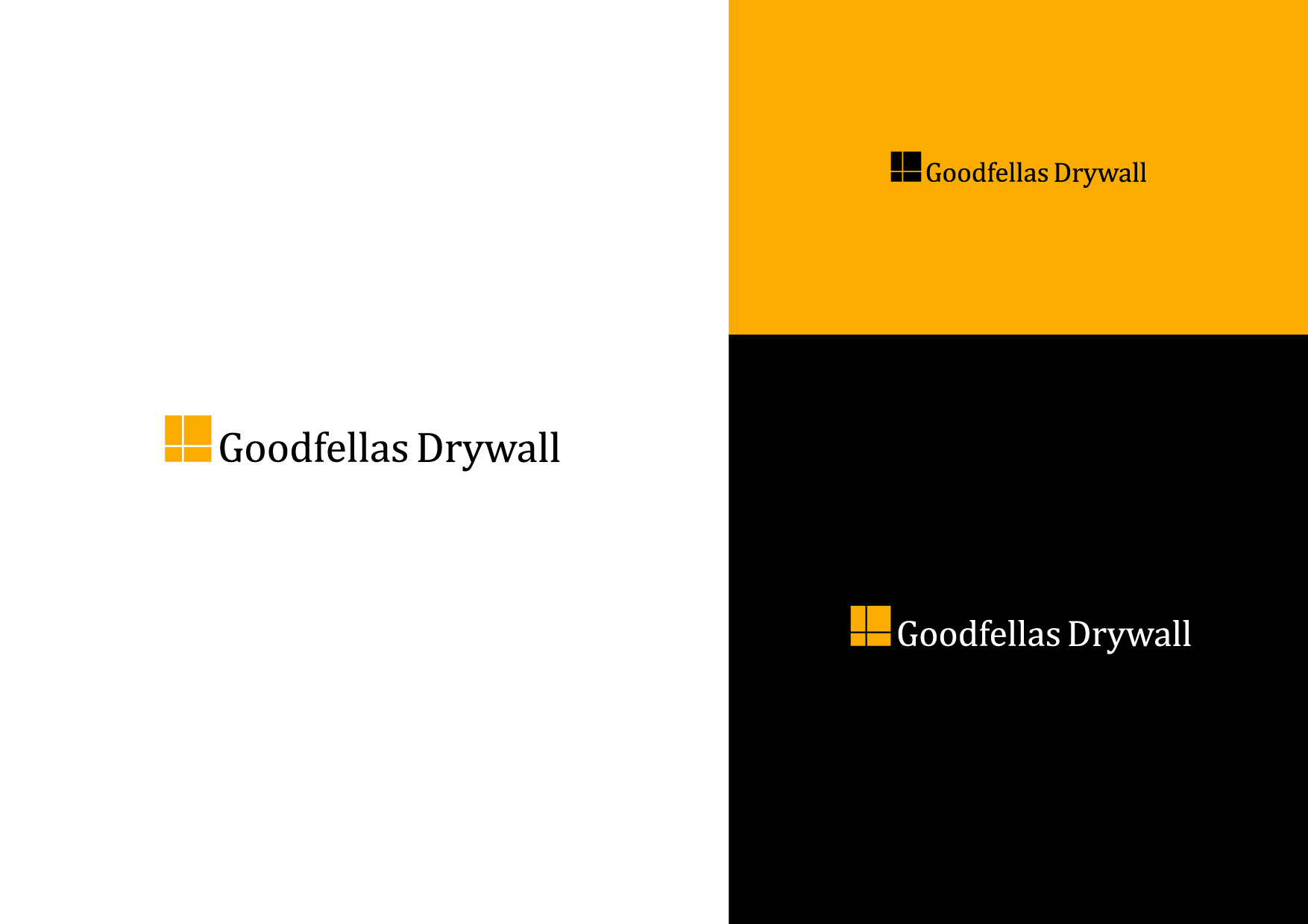 Logo Design by Osi Indra - Entry No. 15 in the Logo Design Contest Creative Logo Design for Goodfellas Drywall.