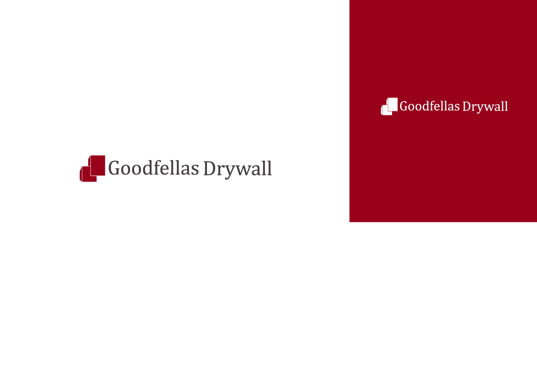 Logo Design by Osi Indra - Entry No. 19 in the Logo Design Contest Creative Logo Design for Goodfellas Drywall.