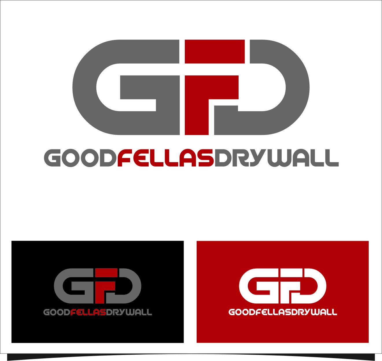 Logo Design by RasYa Muhammad Athaya - Entry No. 25 in the Logo Design Contest Creative Logo Design for Goodfellas Drywall.